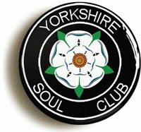YORKSHIRE NORTHERN SOUL CLUB  BADGE BUTTON PIN - KEEP THE FAITH WIGAN CASINO