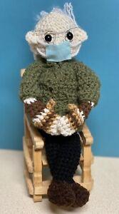 Bernie SANDERS  Mittens Crochet Doll PLUSH STuffed Amigurumi TOY handmade NEW