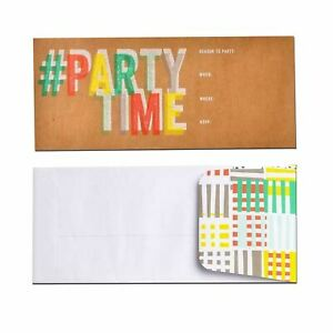 Gartner Studios Hashtag Party Time Invitation cards envelopes