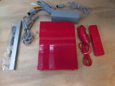 Nintendo Mario Wii Video Game Console Red Bundle With Wii Sports And New 8805