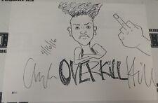 Angela Hill Signed 18x24 Hand Drawn Sketch BAS Beckett COA UFC Invicta Autograph