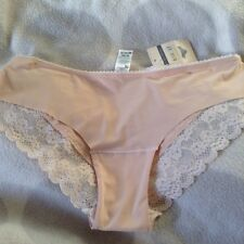 DARK BEIGE KNICKERS SIZE 8 LACE TRIMMED BRAND NEW TAGGED GORGEOUS