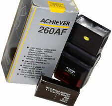 NOS Achiever 260AF Flash, Pentax Dedicated: Powereful & Inexpensive