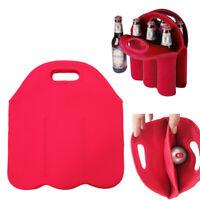 Carry 6 Bottles Drink/Wine/Beer Insulated Neoprene Bag Tote Carrier Cooler Case