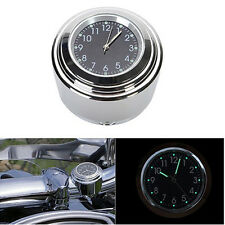 Waterproof Noctilucent Motorcycle Motorbike Handlebar Watch Clock Alloy Stylish