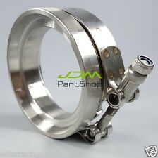 """T304 GT45 3.25"""" SS 304 TURBO DOWNPIPE EXHAUST DOWN PIPE V-BAND CLAMPS+FLANGE"""