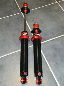 Pr AVO Coilover Ford Escort Mk1 / 2 + Others Adjustable Rear Shocks Turretted