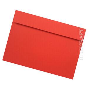 "25 x C5 Pillar Box Red Luxury Peel & Seal 120gsm Envelopes - 162 x 229mm  6 x 9"""