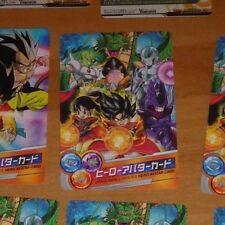 DRAGON BALL Z DBZ DBS HEROES PROMO AVATAR CARD CARTE SPECIAL MADE JAPAN NM #K243