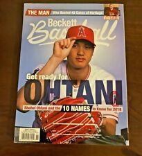 Beckett Baseball Monthly Magazine May 2018 Shohei Ohtani Angels Mint Condition!