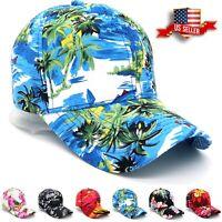 Baseball Cap for Men and Women Adjustable Caps Curve Bill Hats Hawaii Floral