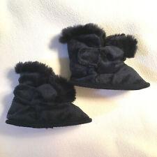 Baby 0-3 mths ~ Navy Fluffy Booties ~ Boy Girl Unisex ~ Mamas & Papas