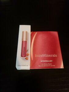 Bareminerals Mineralist Lip Gloss Balm Sincerity (nude pink) .06 oz Travel