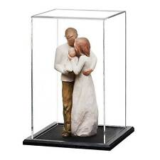 Acrylic Doll Display Case with a Wooden Base 225mm High
