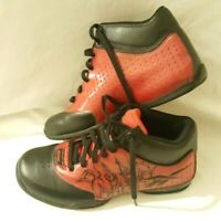 REEBOK DMXRIDE Sample Flu Trainers Size 3.5 - Good Condition - Black And Red