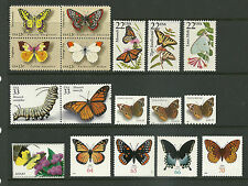 US lot set collection Papillon butterfly Butterflies Stamps  rare offering 蝶Cho