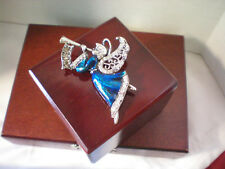 Christmas Fashion Jewelry Blue Angel Brooch Seasonal