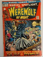 MARVEL SPOTLIGHT #4 3rd WEREWOLF by NIGHT 1st APP DARKHOLD MARVEL 1972 Key Issue