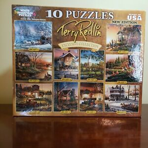 White Mountain 10 In One Puzzles/Exclusive Collection/Terry Redlin 4 were used