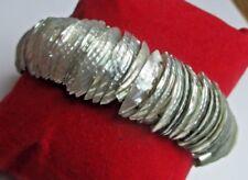 Original beau bracelet extensible en nacre naturel bijou vintage élastique 5125