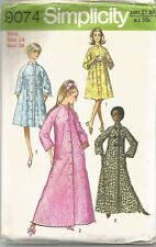 """Simplicity Pattern 9074, Vintage Robe in 2 Lengths, Size 14 Bust 36"""""""