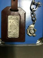Winnie the Pooh Luggage Tag Keychain Compass Pewter in Tin NEW SEE ALL 7 PICS