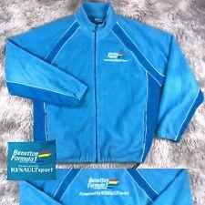 Official Team BENETTON Formula 1 Renault Racing Light Blue Fleece Jacket XL