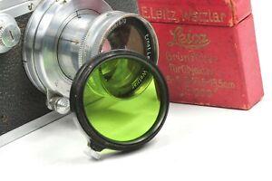 Leica Leitz GREEN 1 FILTER A36 FIPOS for Elmar, Hektor, Summar, Summaron