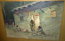 2 RWR Taylor Watercolor Paintings Native American Indians LISTED 1934 L.A,Cal.