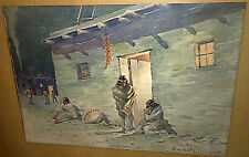 2 RWR Taylor Watercolor Paintings Native American Indians LISTED ARTIST L.A,Ca