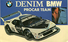 STICKERS ADESIVO DENIM BMW PROCAR TEAM Rally AUTO CAR RACING RACE