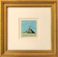 FANNY BRENNAN - Custom Framed 'Mont St. Michel' Hand-Signed LE Lithograph