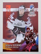 2017 BY cards IIHF WC Goal Scoring Leaders #12 Andris Dzerins #/20