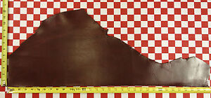 """AUTHENTIC HORWEEN LOLIPOP RED CAVALIER LEATHER 5oz 31.5""""x12"""" NAT. QLTY LOGO"""