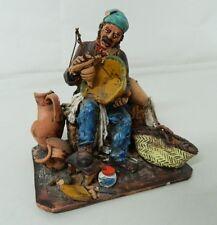 Statua ceramica Riparatore di vasellame Scuola Caltagirone Lavorato a mano OMA19