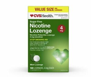CVS 4mg Mint Flavor Nicotine Lozenge 168 Lozenges 9/22 COMPARE TO NICORETTE