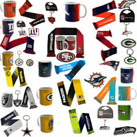 NFL Football Superbowl Team Logo Mug / Scarf / Keyring / Badge Gift Selection