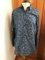 ganesh blue white print cotton shirt size 2 bnwt