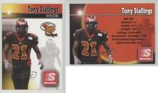2004 Louisville Fire Team Issue #TOST Tony Stallings (AF2) Rookie Football Card