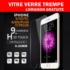 Vitre Film de protection d'écran en verre Trempé iPhone 8 7/7Plus /6/6S SE/5S/5C