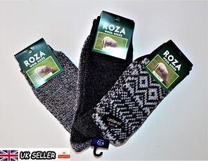 3 Pairs Men's Wool Socks Thick Cosy Work Thermal Boot Socks Size UK  6-11 CMKS