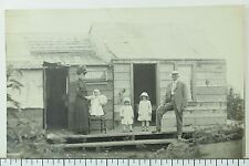 C. 1910 Family w/ Small Kids In their Shack House Vancouver, BC Real Photo P33