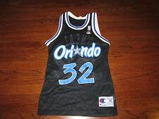 VINTAGE ORLANDO MAGIC #32 Shaquille O'NEAL NBA CHAMPION JERSEY SZ 36 Good Cond