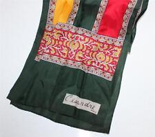 Vintage Cesandre Paris Scarf Rectangle Wrap Red Gold Green Signature Bohemian