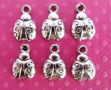 20 Cute Little Ladybug Silver Plated Charm/baby/jewelry/scrapbooking/bead K52
