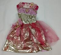 Barbie Holiday Dress Costume Pink Gold Fantasy Girls Size 4-6X NEW