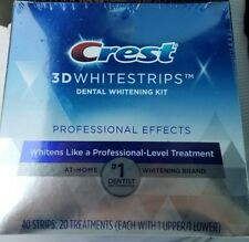 Crest 3D WHITESTRIPS~Proffesional Effects 40 Strips~20 Treatments~New/Sealed