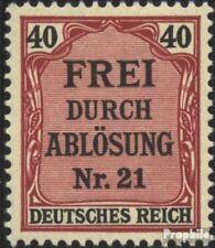 Allemand Empire d7 avec charnière 1903 Prusse/inscription