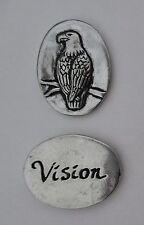 v Bald Eagle vision spirit HANDCRAFTED PEWTER POCKET TOKEN CHARM basic coin