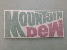 MOUNTAIN DEW - VINYL STICKER - IN GREEN & RED - NEW